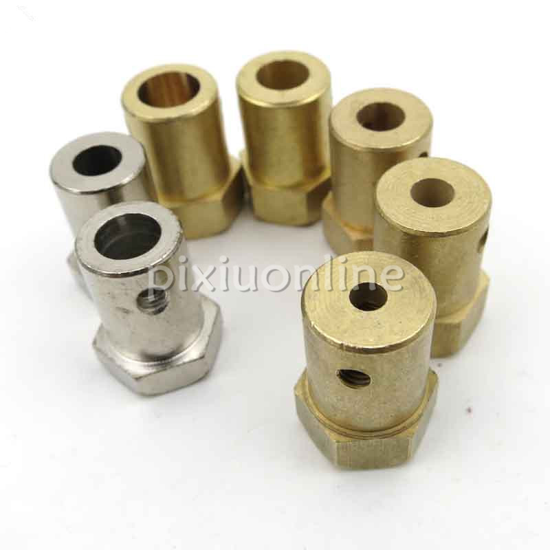 1pc J257 Brass Shaft Coupling Inner Diameter 2/4/5/6/7mm Hex Couplings Model Car Wheel Connector DIY Parts Free Shipping Russia power transmission parts shaft couplings gfz d55xl78