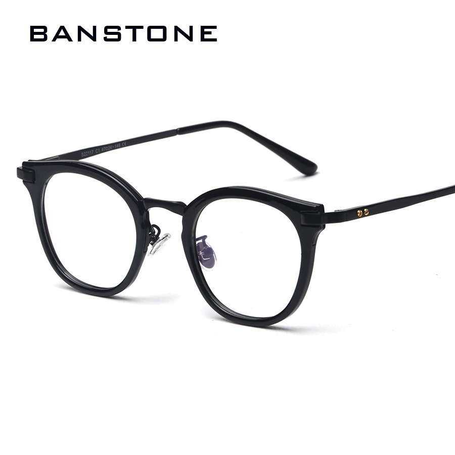 da9f2d29fdf BANSTONE Fashion Eye Frames Men Retro Round Eyeglasses Men Cool Nerd Glasses  Computer Glass Frame Women Eyewear Oculos grau-in Eyewear Frames from  Apparel ...