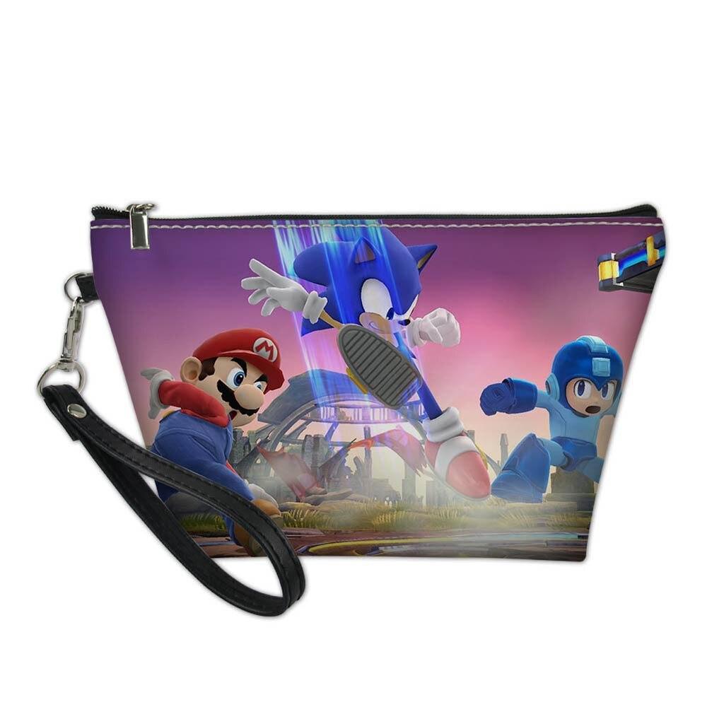 294dabd7e1a9 3D Sonic Super Mario Bros Cartoon Printed Portable Women Bag Organizer  ravel Cosmetic Case Summer Makeup Toiletry Storage Bags