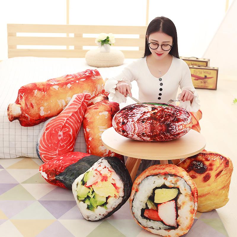 nueva llegada d costillas de sushi simulacin juguetes de peluche almohada forma de comida creativa decoracin