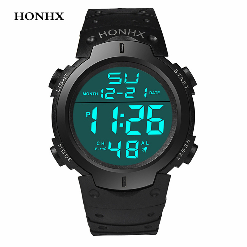 LED Males Casual Clock Men Waterproof Sport Digital Watch  Saat
