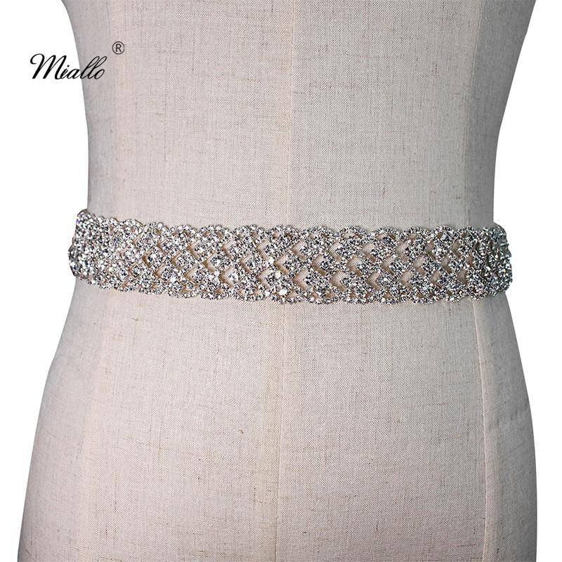 Miallo Fashion Full Diamonds Belt Wedding Crystal Sash Bridal