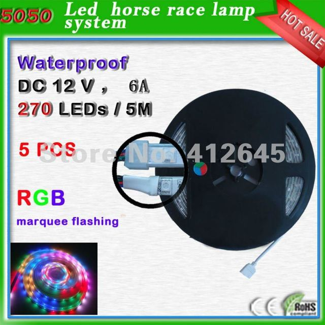 Free shipping waterproof SMD 5050 RGB flex led stripes_54pcs/m strip light