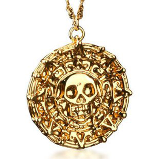 Bahamut pirates of the caribbean aztec coin pendant necklace free bahamut pirates of the caribbean aztec coin pendant necklace free with chain costume jewellery mozeypictures Images