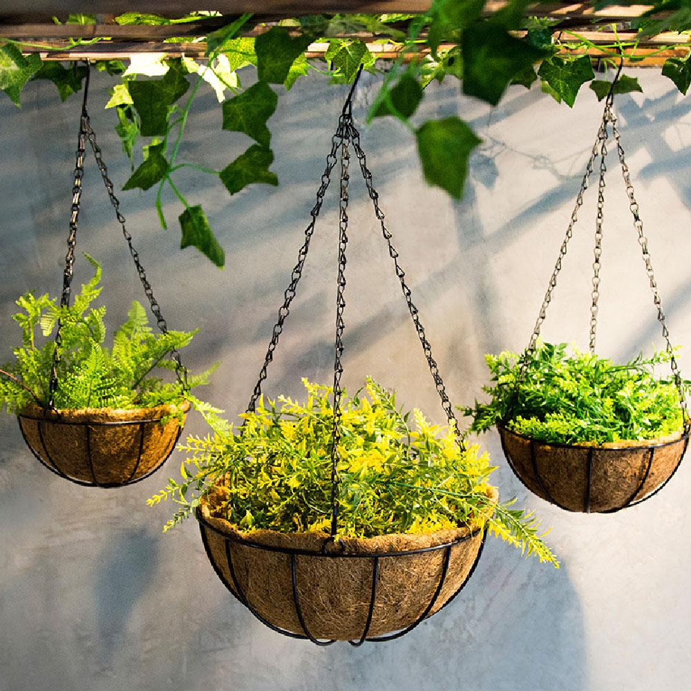 Hanging Coconut Vegetable Flower Pot Basket Liners Planter ... on Decorative Wall Sconces For Flowers Hanging Baskets Delivery id=73883
