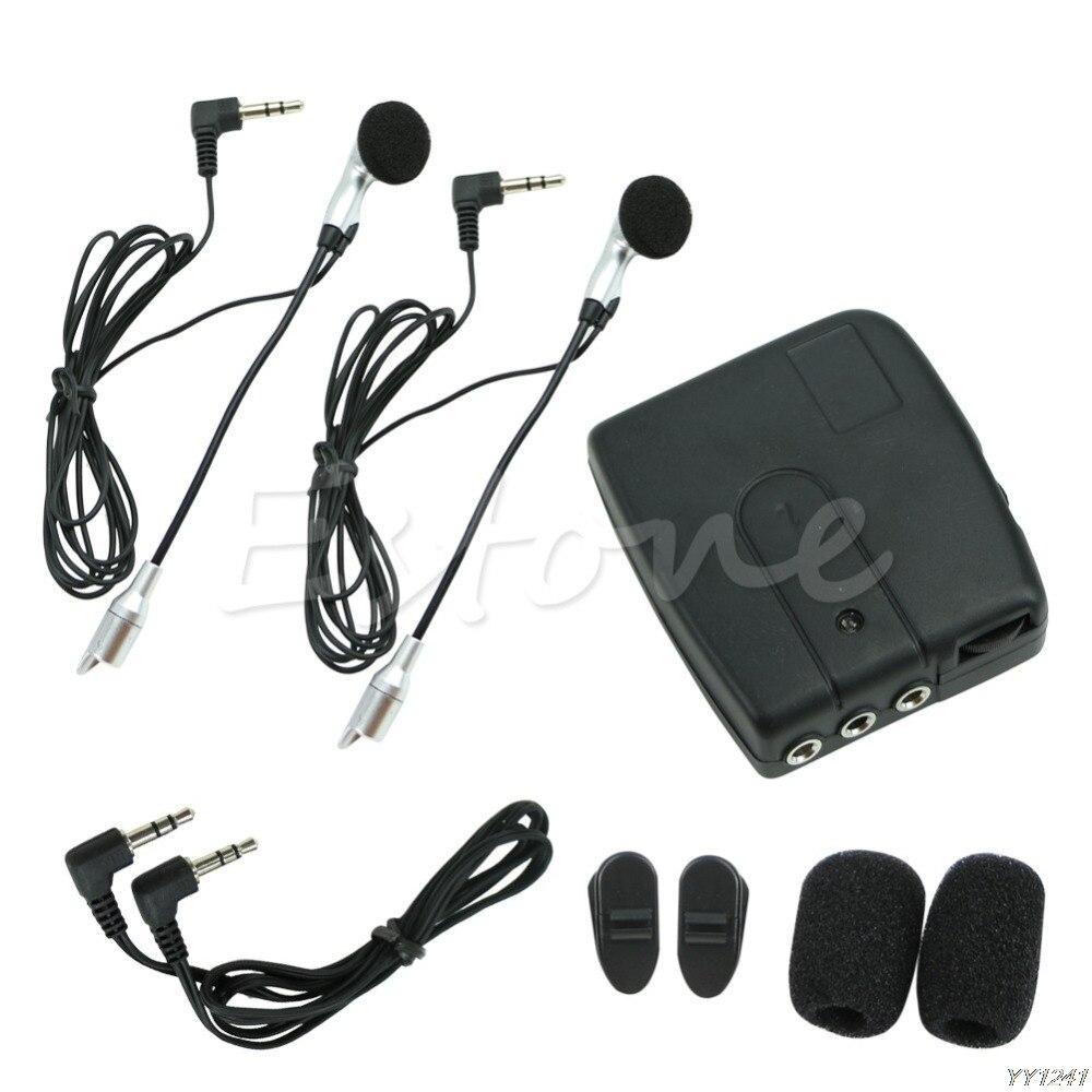 QILEJVS Motorbike Motorcycle Helmet 2-way Intercom Headset Communication System-