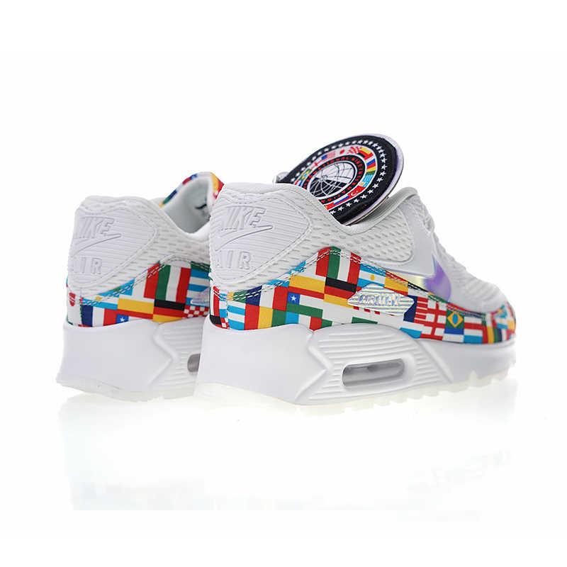 buy popular bfbdb ff876 Nike Air Max 90 NIC QS International Flag Men's Running Shoes Sport Outdoor  Sneakers Athletic Designer Footwear 2018 New AO5119