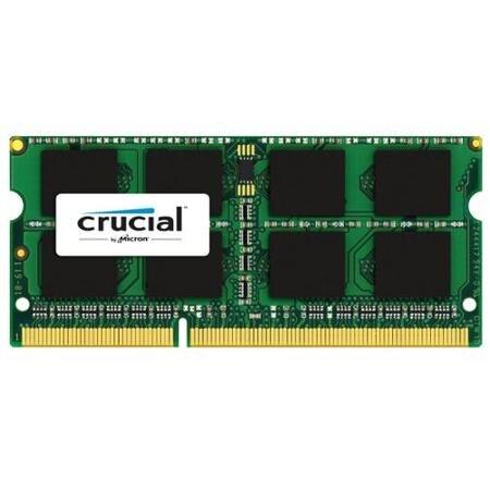 Crucial 8 GB DDR3L-1866, 8 GB, 1 x 8 GB, DDR3L, 1866 MHz, 204-pin SO-DIMM, Negro, VerdeCrucial 8 GB DDR3L-1866, 8 GB, 1 x 8 GB, DDR3L, 1866 MHz, 204-pin SO-DIMM, Negro, Verde