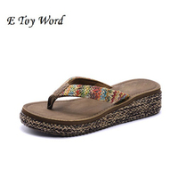 2016 With Flip Flops In Fashionable Non Slip Thick Bottom Pinches Female Summer Wear Cool Sea