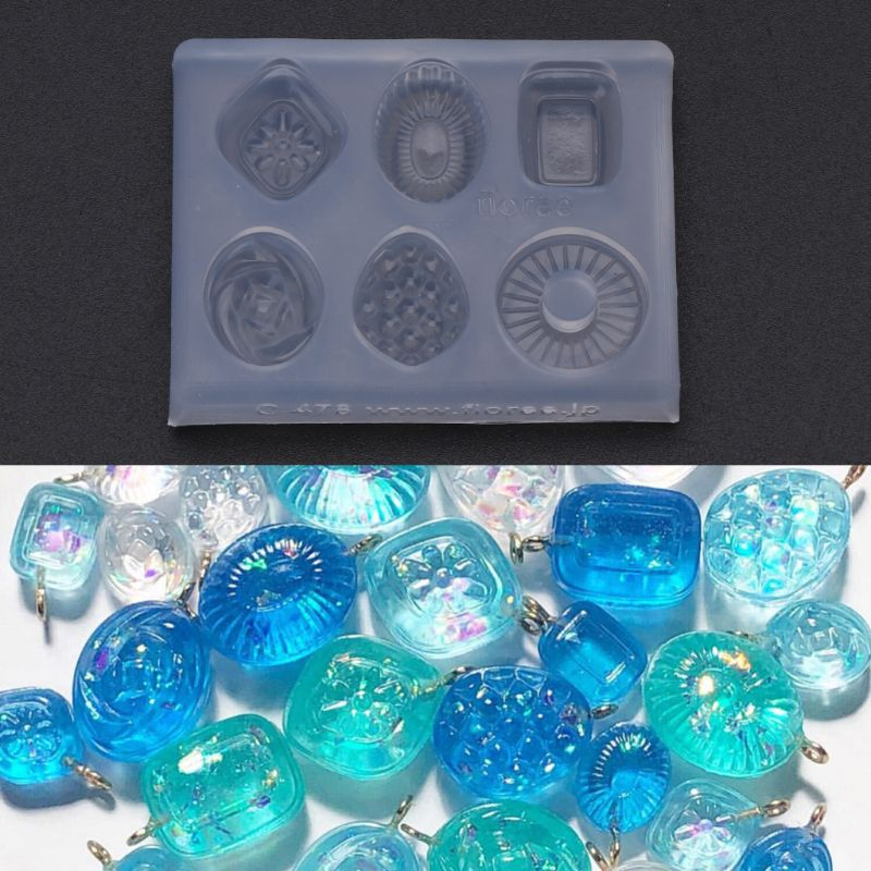 Mini Candy Pendant DIY Keychain Earrings Mold Resin Casing Jewelry Making Tools