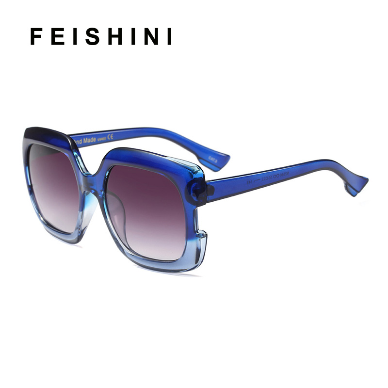 FEISHINI Stars Plastic Festival Celebrity Square Oversized Women Sunglasses Ladies 2019 oculos de sol feminino UV Protector in Women 39 s Sunglasses from Apparel Accessories