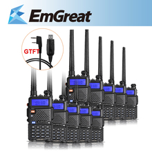 10pcs/lot Baofeng UV-5R Walkie Talkie UHF400-520MHz VHF 36-174 MHz Ham Two Way Radio + USB Program Cable as Gift P0020939