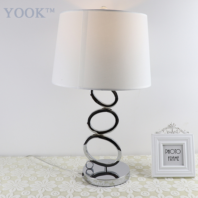 YOOK 2018 Stainless Steel Table Lamps For Bedroom Large Table Lamp For  Living Room Modern Style