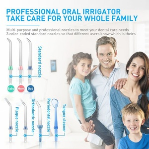 Image 2 - Water Flosser Dental Oral Irrigator Teeth Cleaner Pick Spa Tooth Care Clean With 7 Multifunctional Tips For Family