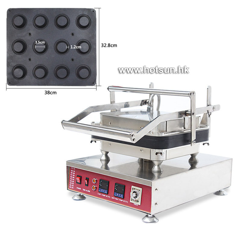 Free Shipping Commercial Stainless Steel 110V 220V Electric 12pcs Tart Pie Pastry Maker Machine With Removable Plate 10oz stainless steel 110v 220v electric commercial popcorn machine with temperature control