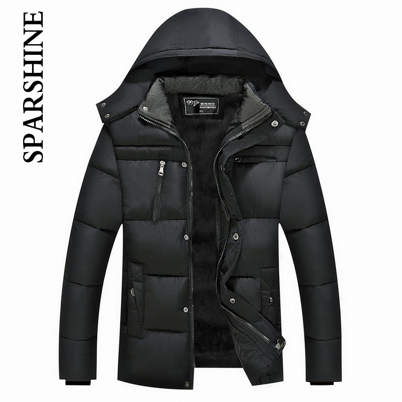 Warm Winter Thicken Mens Hooded Coat Jacket Men's Outerwear Homme Soft Comfortable Men Jackets And Coats 2017 Sale