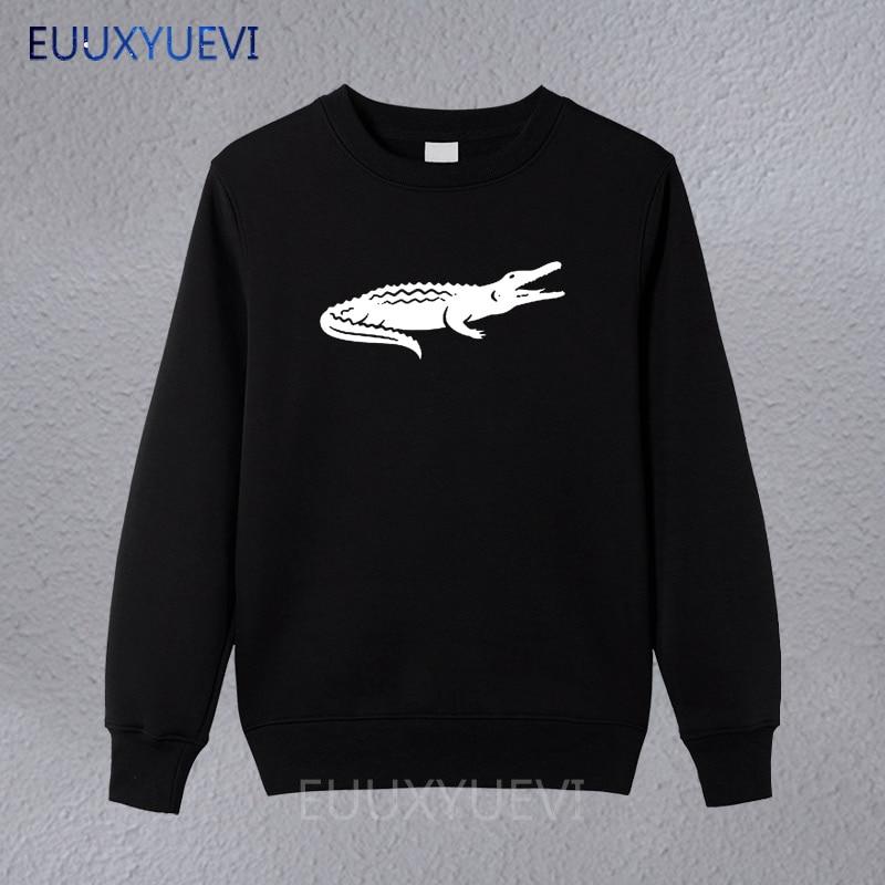 2018 Arrival Fashion Casual Winter Autumn Sweatshirts Crocodile Animal Print Brand Clothing Cotton Mens Hoodies High Quality