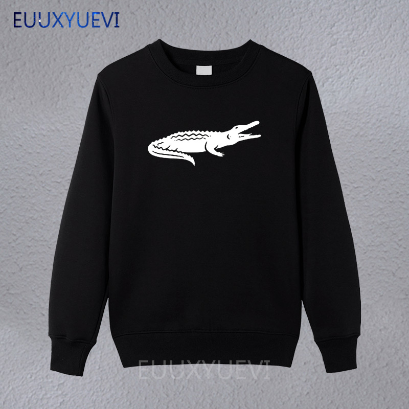 2018 Arrival Fashion Casual winter autumn sweatshirts Crocodile Animal Print Brand Clothing Cotton Mens hoodies High Quality