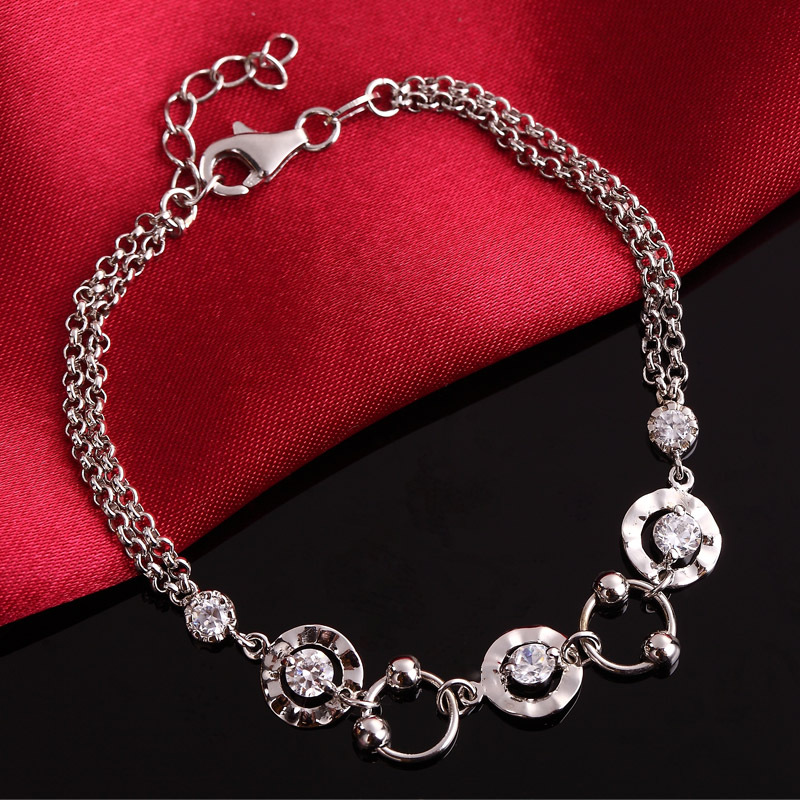 Women Braclet Silver 925 New Fashion High Quality Luxury Bracelets 925 Sterling Silver Jewelry mens bracelets braclet men boyfriend gift silver 925 10mm