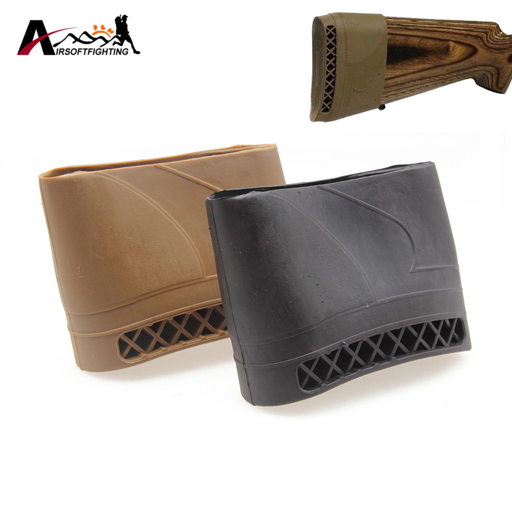 Tactical Hunting Rifle Rubber Recoil Pad Anti-Slip Resistance Pad Airsoft Shooting Universal Extension Gun Butt Protector Rubber