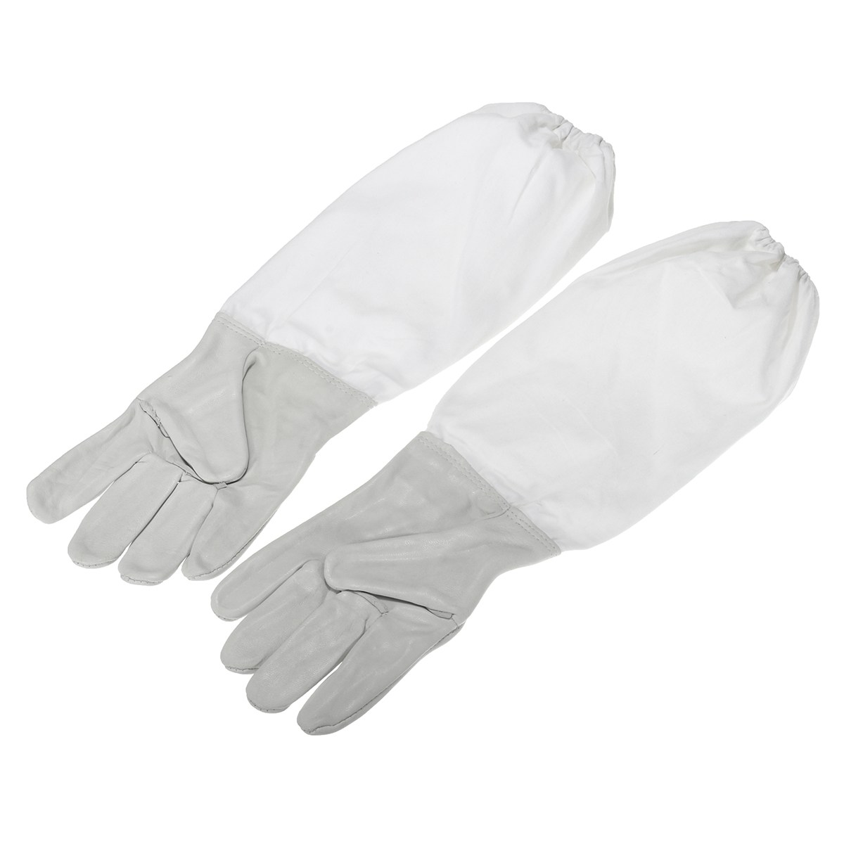 Safurance 2 Pair Protective Vented Long Sleeves Sheepskin Bee Keeping Beekeeping Gloves Workplace Safety 6 frames reversible honey extractor for bee keeping