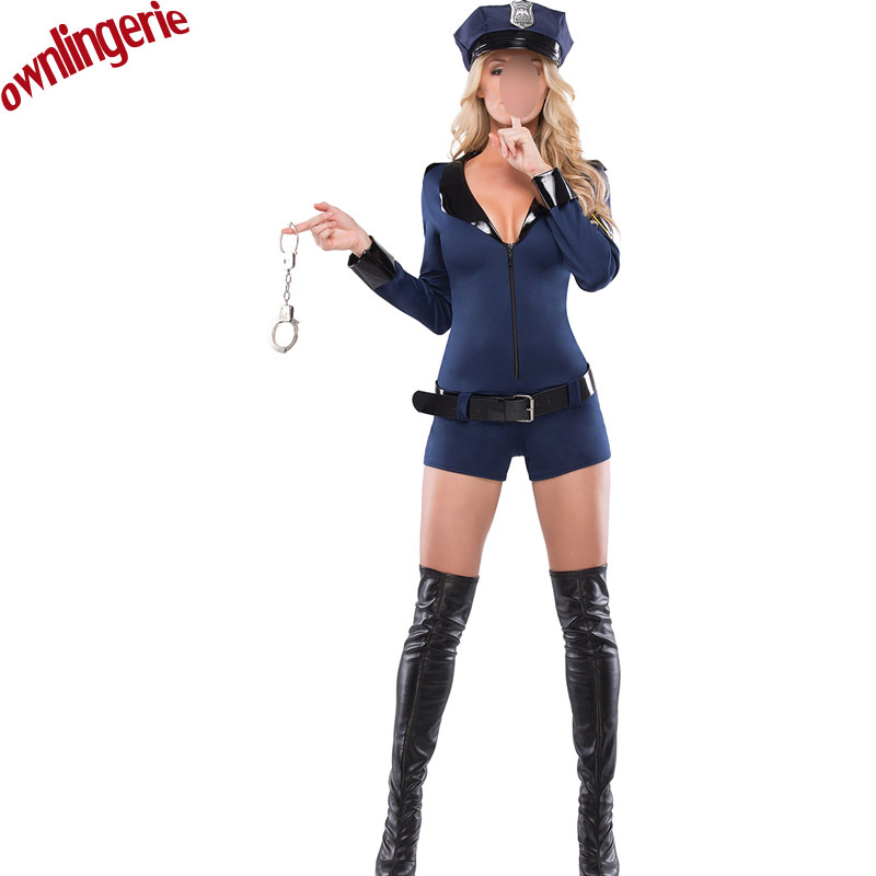 4c078d55090a Sexy Police Women Costume Cop Outfits Adult Woman Policemen Cosplay  Policewoman Romper Fancy Dress -in Movie   TV costumes from Novelty    Special Use on ...