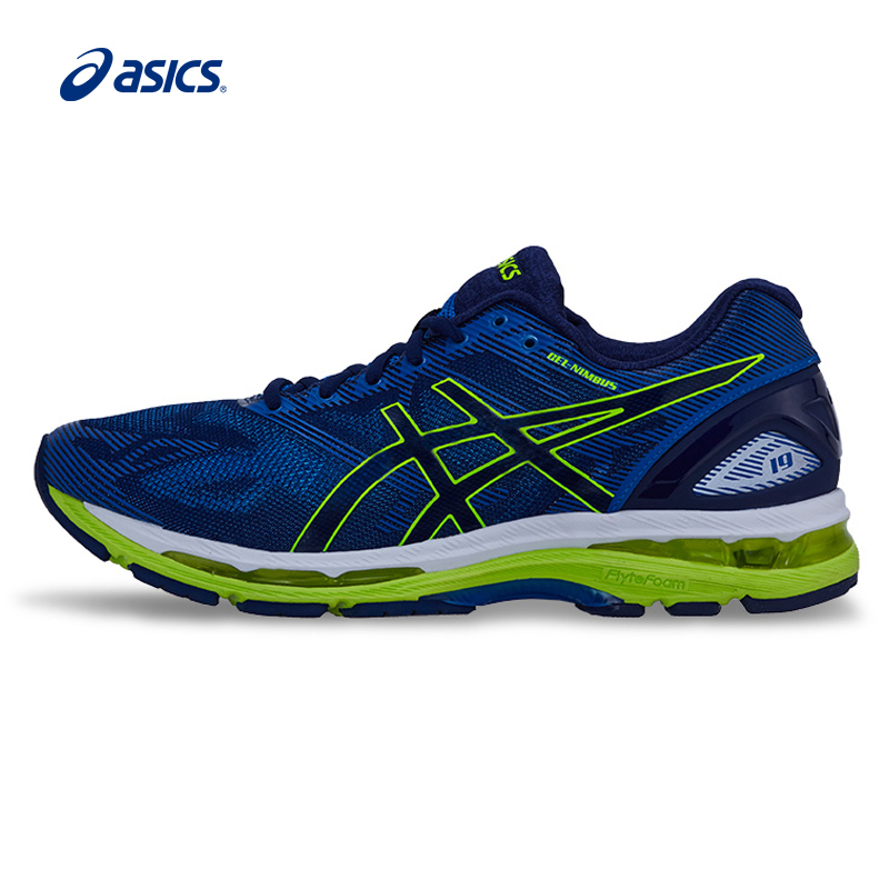 Аутентичные ASICS Новое поступление мужская обувь GEL-NIMBUS 19 Подушка кроссовки дышащая Спортивная обувь кроссовки
