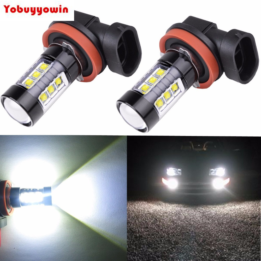 High Power 80W CREE Chips Super Bright 6000K Xenon White H11 H8 H16 Type 2 LED Bulbs for Fog Light Lamp Replacement