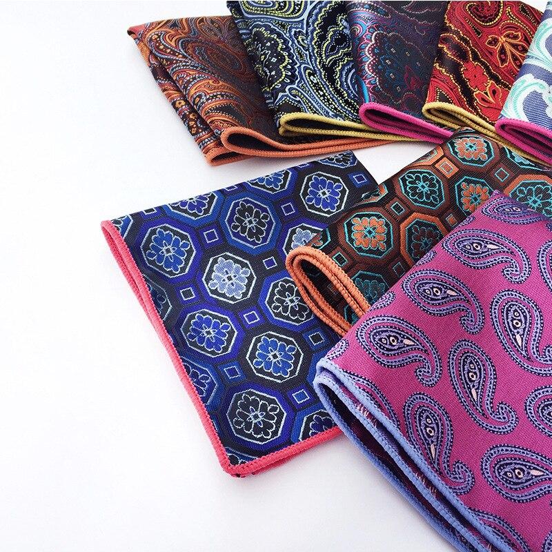 Business Suit Dress Pocket Towel 9 Color Combination Fashion Explosion Models Unique Design Paisley Polyester Pocket Towel