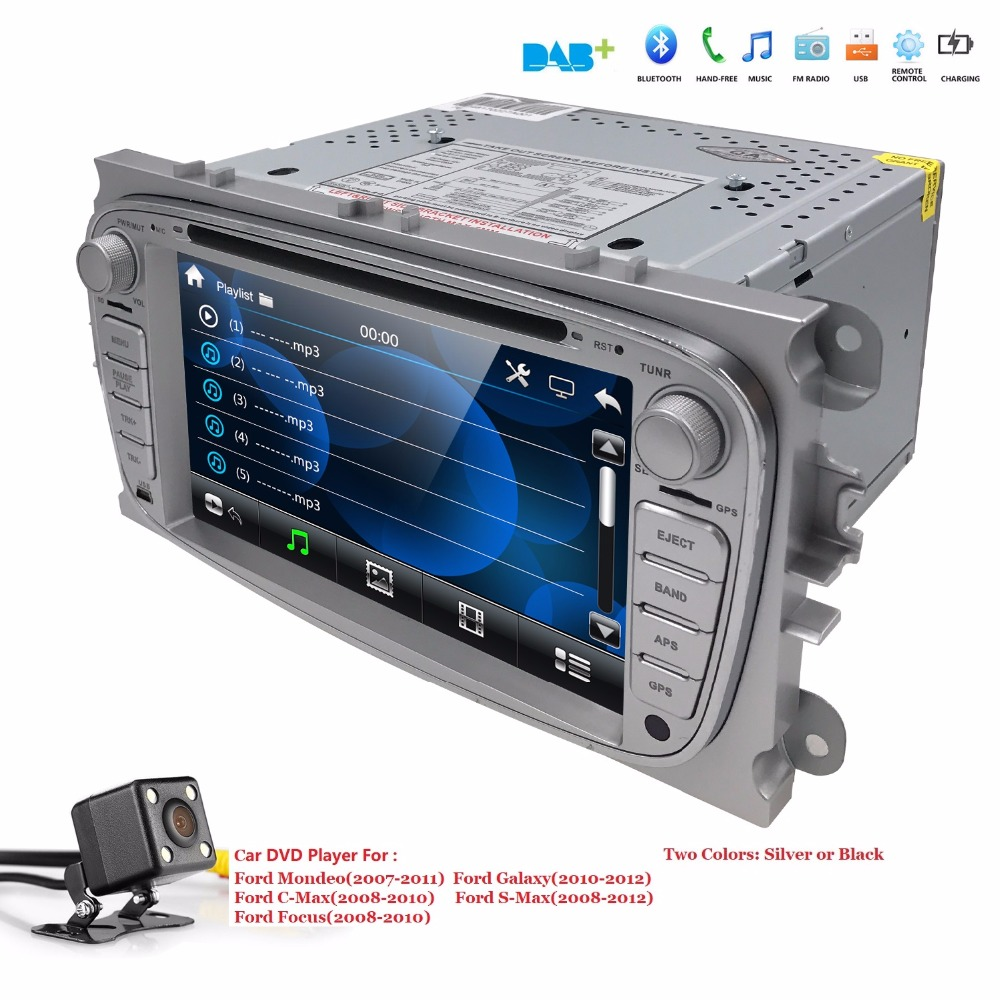 US/EU warehouse Car DVD multimedia Player For <font><b>FORD</b></font> <font><b>Mondeo</b></font> S-MAX Connect FOCUS 2 2008 2009 <font><b>2010</b></font> 2011 <font><b>GPS</b></font> Navi RDS BT free Map Cam image