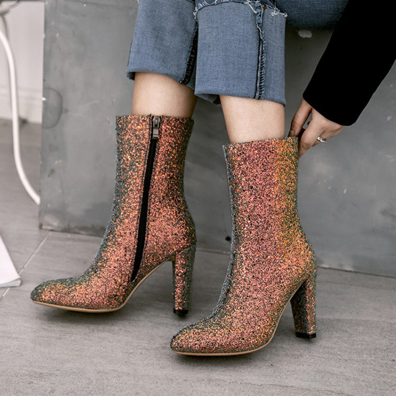 Rainbow clothing store boots