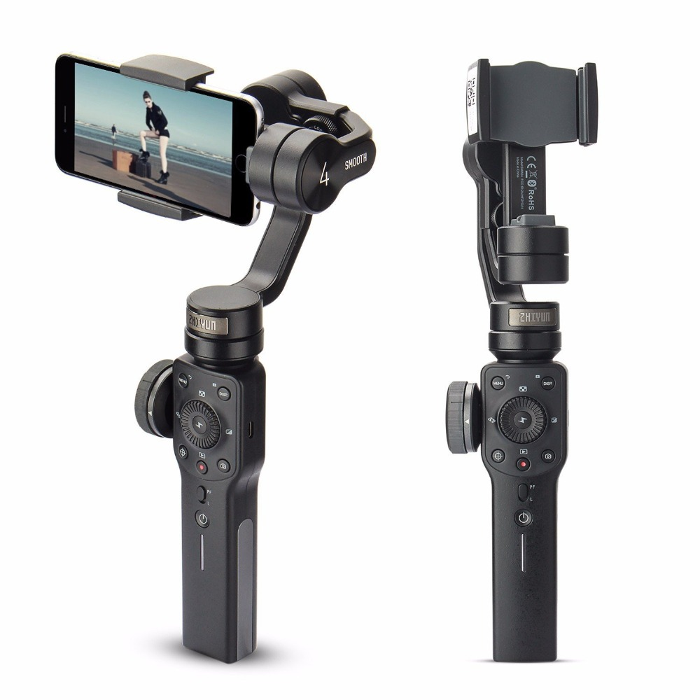 Zhiyun Smooth 4 3-Axis Handheld Smartphone Gimbal Stabilizer for iPhone XS Max XR X 8Plus 8 7P7 Samsung S9 S8 S7 & Action Camera 1