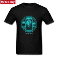 Czarny Krótki Rękaw Unikatowa Koszulka The Doctor Who Tee Mens Zapalić Koszulki Nowa Projektowaniu Para XXXL Koszulki Wykonane
