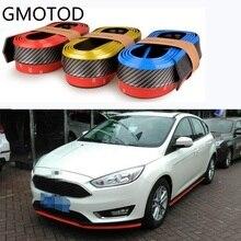 Автомобильный ПВХ карбоновый передний бампер для губ разветвитель подбородок отделка спойлера протектор 3 цвета(Размер: 250x5,5 см