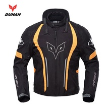 Free shipping 1pcs Men's Cool Outdoor Neckguard Jackets Motorcycle Jacket Racing Cycling Race Coat with 5pcs pads