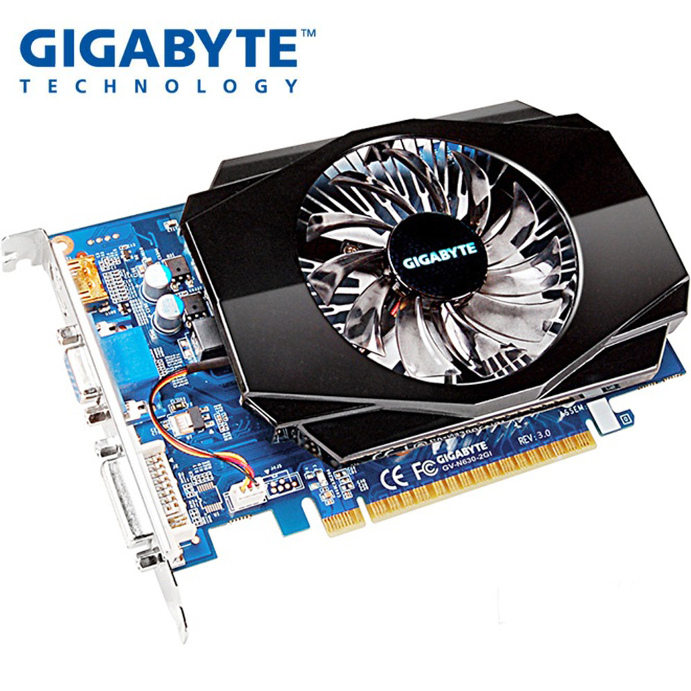 Used GIGABYTE Video Card Original GT630 2GB 128Bit GDDR3 Graphics Cards For NVIDIA VGA Cards Geforce GT 630 Hdmi Dvi On Sale