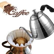 Realand 900 ML Edelstahl Gießen Über Drip Kaffeemaschine Topf Wasserkocher mit Extra Lange Schmale Präzision Schwanenhals Auslauf