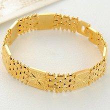 12 мм цепочка для часов желтое золото заполненная Мужская Женская