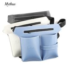 Vysoce kvalitní kožené kožené kožené nářadí Bag Adjustable Salon Kadeřník Taška na tašku Taška na nůžky pro psací potřeby