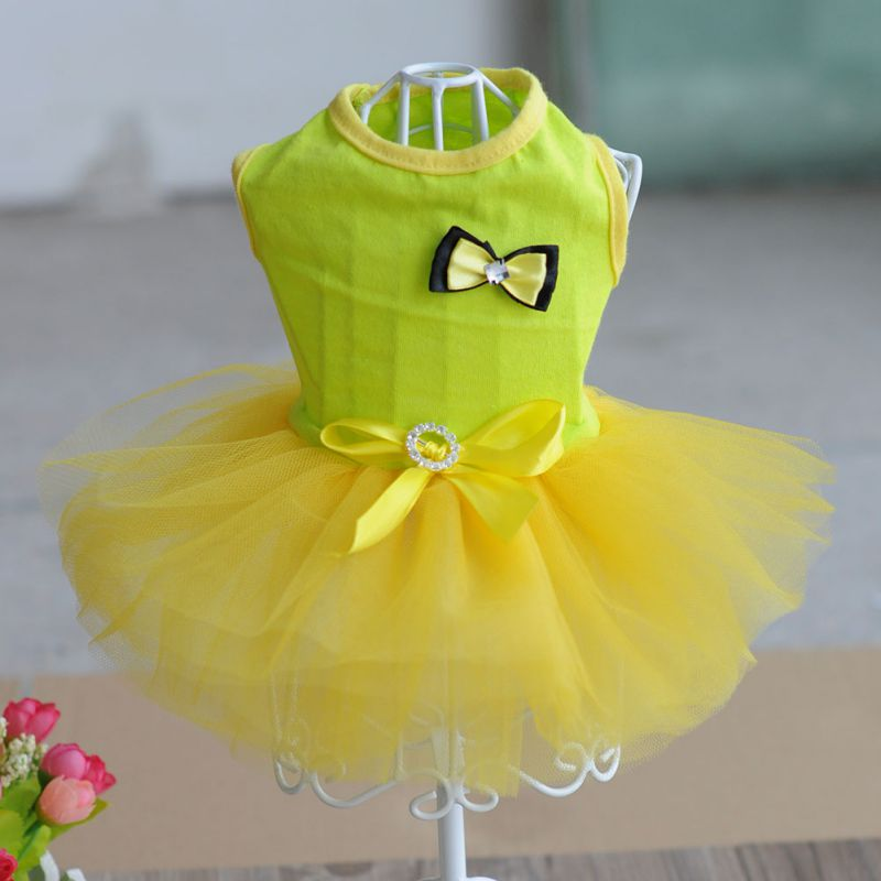 Summer <font><b>Dog</b></font> Mesh <font><b>Dress</b></font> Clothes Small <font><b>Dog</b></font> Wedding <font><b>Dress</b></font> Pet Costumes Tutu <font><b>Dress</b></font> For <font><b>Dogs</b></font> NEW image