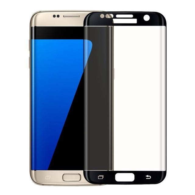 Para samsung galaxy s7edge g935 3d impresión de seda de tamaño completo templado protector de pantalla de cristal 0.2mm para galaxy s 7 edge vidrio templado