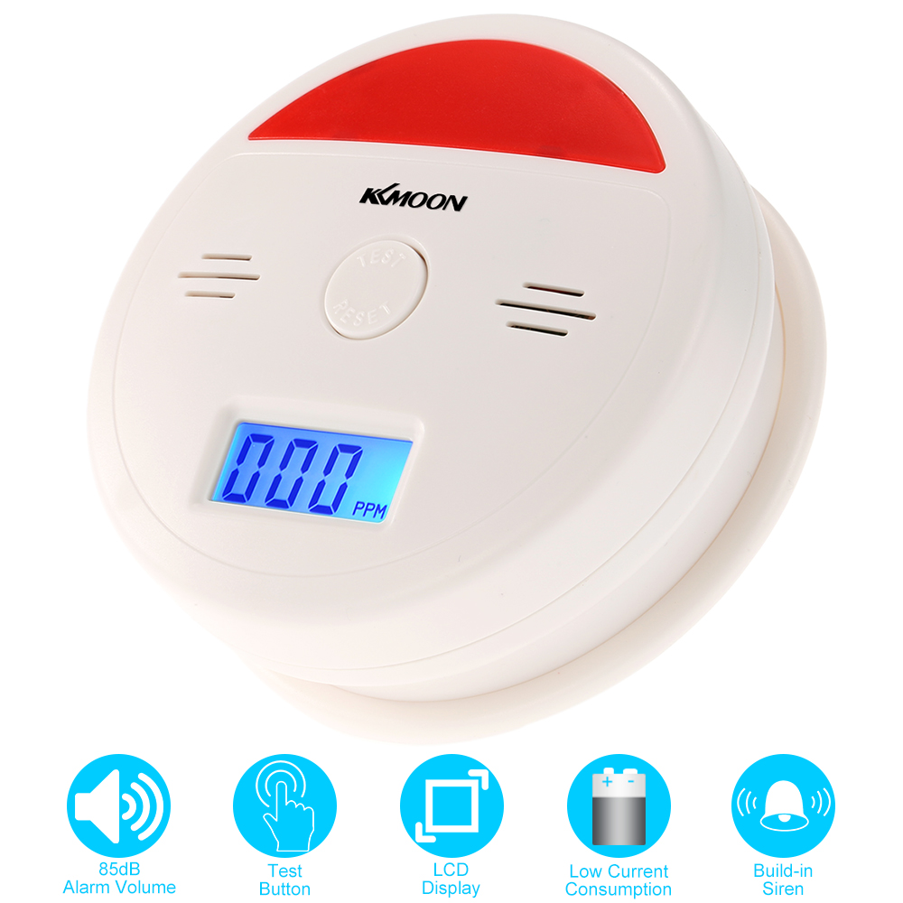 co Battery Operated Carbon Monoxide Alarm Sensor Gas Leaking Detector Stand Alone Home Security System Fire Alarm 100% Original 1 Pcs
