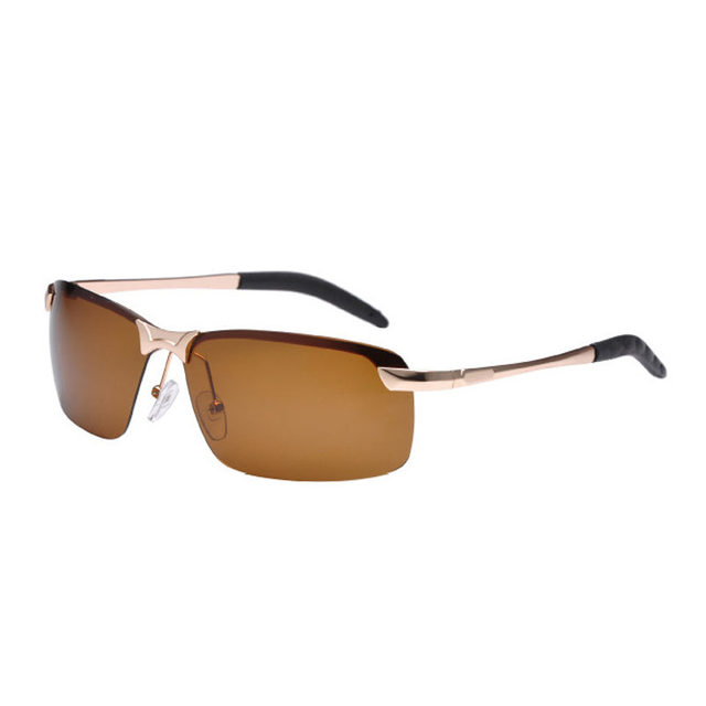 64d0eedab088 Men Sunglasses Cool Women Metal Half Frame Sun Glasses Polarizer Driver  Fishing Glasses Top Quality Summer Protection Eye 0047