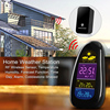 Newest Digital Cobble Stone LED Wireless Weather Station With Temperature Clock Humidity Remote Sensor Controlled Functi