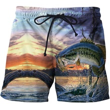 Мужские шорты для плавания с принтом рыбы 3 d, шорты для серфинга, пляжные шорты, лето, пляжные шорты, шорты, размер S-6XL