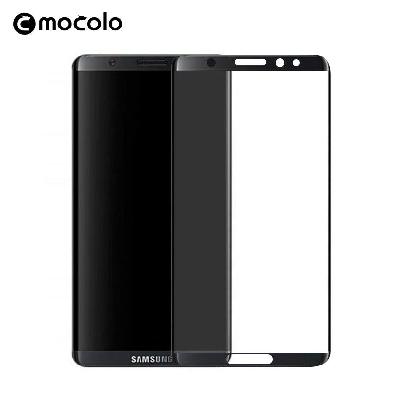 100% Original Mocolo 3D Curved Full Cover 9H Tempered Glass Screen Protector For Samsung Galaxy S8 3d film for samsung S8 Plus