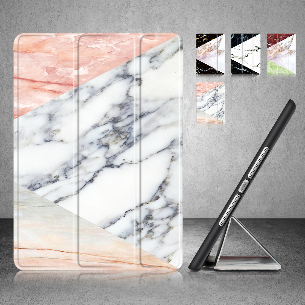 Soft marble Back Cover For Apple Ipad 8 7 6 5 3 2 4 air 3 2 1 PU Leather Flip Case For ipad mini 4 3 2 1 For ipad pro 10.5''