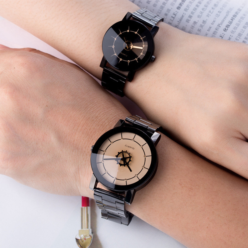 все цены на Fashion luxury Diamond mirror watches men women 2017 BGG Brand stainless steel simple quartz wristwatch Creative couple watch онлайн