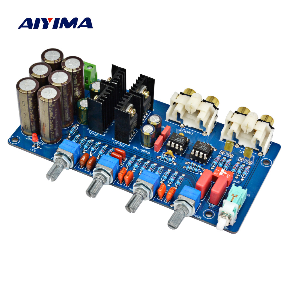 Aiyima JRC5532 Pre Amplifier Music Volume Tone Control Board Fever op amp preamplifier board AC Dual 12V-18V 14 inch double tone afanti music snare drum sna 109 14