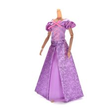 1Set Princess Doll Dress Similar Fairy Tale Rapunzel Wedding Dress Gown Party Outfit For Doll Best Girls' Gift(China)